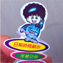 water proof die cut special shap paper and vinyl sticker