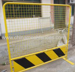 желтый цвет портативный дороги забор барьер
