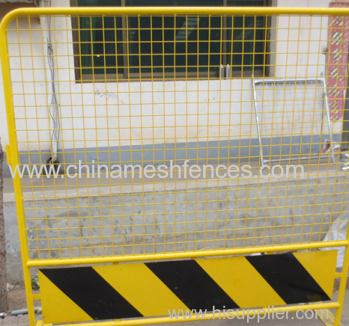 1.8x1.8m bright color portable road safety barrier factory