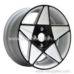 Painted Inner Groove wheel white with black