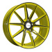 Thin spokes painted inner groove alloy wheel