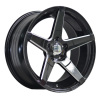 17 inch black painted inner groove alloy car wheel