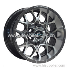 Black machine face 15 16 inch SUV car wheel