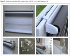 blackout aluminum tube waterproof roller blinds Daylight and Blackout roller blind supplier in China