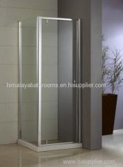 Corner Swing Shower Door & Shower Enclosure + Side Panel