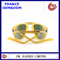 Ladies Clear Amber Folding Protection Sunglasses China Wholesaler