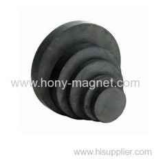 High performance bonded ferrite radial magnet