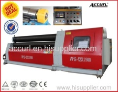 Hydraulic 4 Roller Rolling Machine W12-6*3000 with Pre-bending