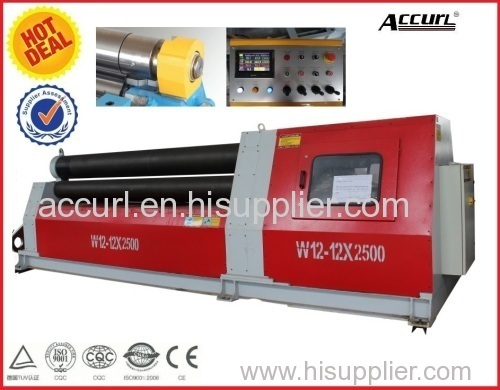 Hydraulic 4 Roller Rolling Machine W12-6*2000 with Pre-bending