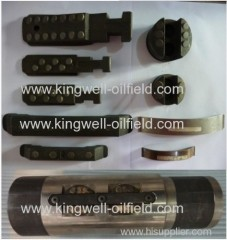 Full bore retrievable packer tools parts of drill stem testing tools (DST)
