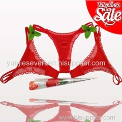 Valentine Sale cheap sexy rose thongs red thongs packing in a rose flower