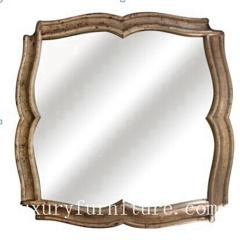 Bath room mirror wooden frame mirror antique mirror dressing mirror decorate mirror