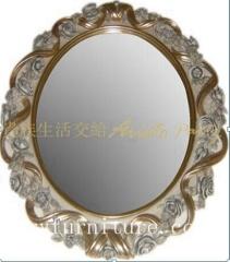 Dressing mirror classical mirror antique mirror wooden frame mirror