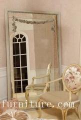 Floor mirror wooden frame mirror decorative mirror stand mirror bedroom mirror
