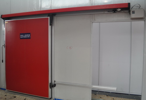 electrical middle type sliding freezer doors