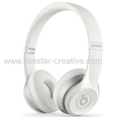 New Apple-owned Beats Solo2 Bluetooth Wireless On-Ear Headphones White