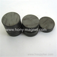 Bonded ferrite rotor magnets round