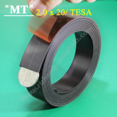tesa 20x2.2mm sticky Double sided magnetic strip