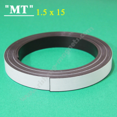15x1.5mm flexible magnetic tape with adhesive