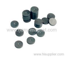 Bonded ferrite disc shaped magnet