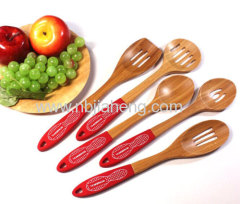 Art and Cook Bamboo Turner with Silicone Handle