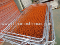 New Zealand Orange Temporary Barrier Fence Panel