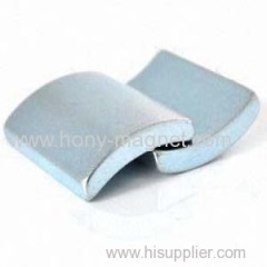 Permanent sintered curved ndfeb magnet