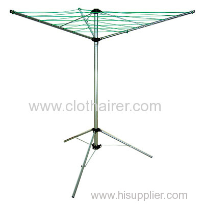 3 arms steel rotary airer with tripod