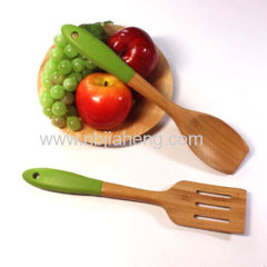 Promotional bamboo spoon with forks