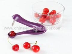 Cherry Pitter Removal Core Easy Squeeze Grip Kitchen Tool