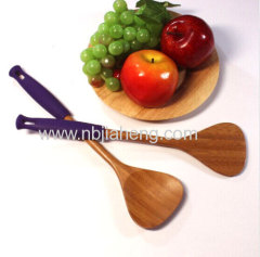 Silicone bamboo spoons for cooking