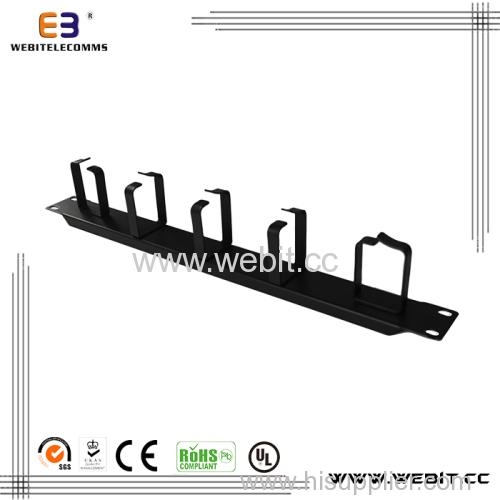 1U metal cabling organizer with 5 rings