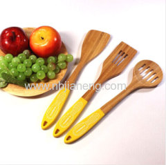 Natural color small bamboo spoons solid