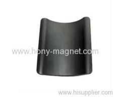Strong Customized strontium bonded ferrite magnet arc