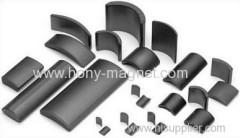 speaker bonded ferrite arc ceramic magnet