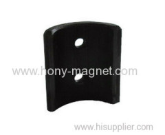 anti-corrosion arc bonded ferrite magnet with two hole