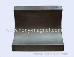 hard sintered barium ferrite magnet arc for sell