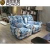 Fabric Chair in bule with flower pattern living room sofa home furniture