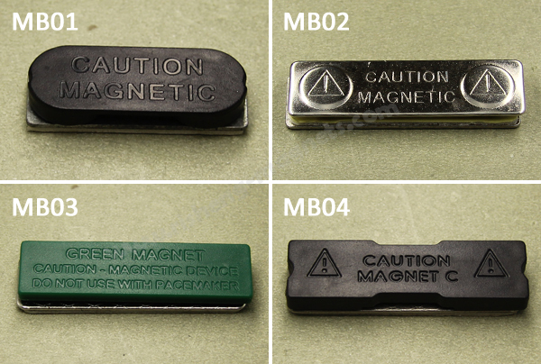 33 x 12mm magnetic name badge magnetic name badge holders