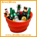 New product ideas silicone collapsible ice bucket