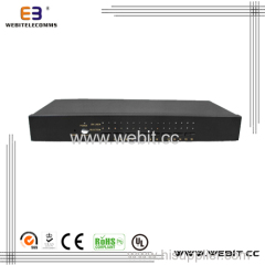 Cat5 rack-mountable KVM switch