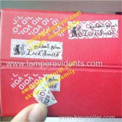 Custom vinyl void stickers white void sticker labels warranty seal sticker void if tampered