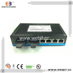 Industrial Fiber Media Converter 4*10/100M Base-TX and 2*100M Base-FX