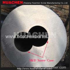 Bimetallic SKD Conical Twin Barrel Screw