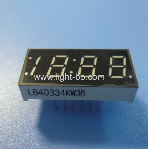 Ultra Bright White 4-Digit 0.33  7 Segment LED Display for Digital Clock Indicator