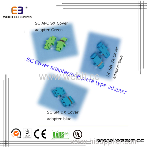 SC Cover adapter & one piece type adapter
