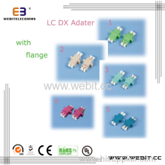 LC DX Adapter with flange