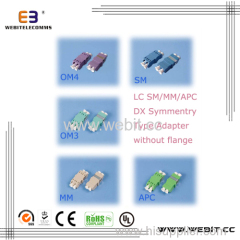 LC DX symmetry adapter without flange