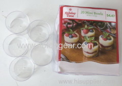 20Pcs PS clear cupcake mini bowls