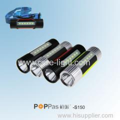New Promotion Multi-function CREE XP-E R2 High Power LED Flashlight POPPAS-S150
